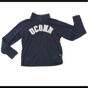 Victoria's Secret UCONN Huskies 1/4 Zip Sweatshirt